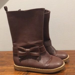 Brown toddler boots size 8 from gap